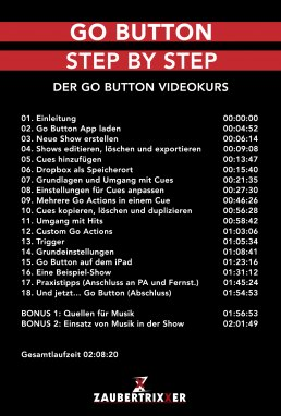 Go Button Step by Step Inhalt